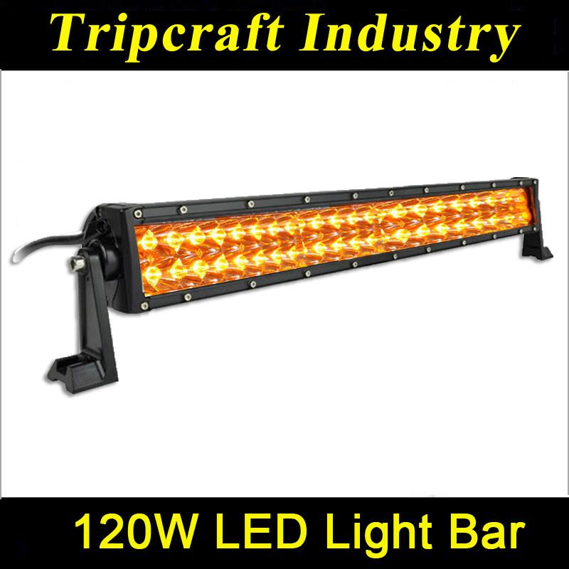 2014 new amber 120w led driving light bars amber led light bar car accessory led light bar off. Black Bedroom Furniture Sets. Home Design Ideas