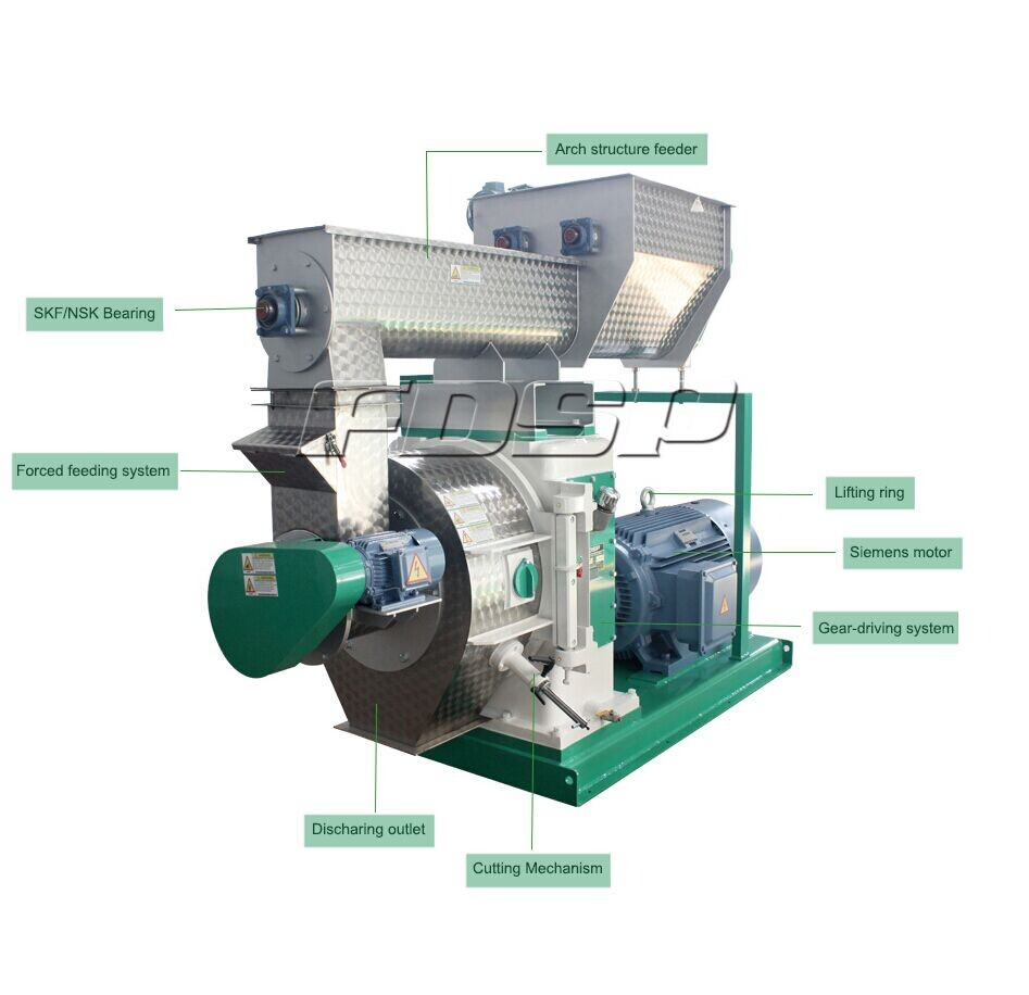 Tph sunflower husk pellet mill pelletiser for biomass
