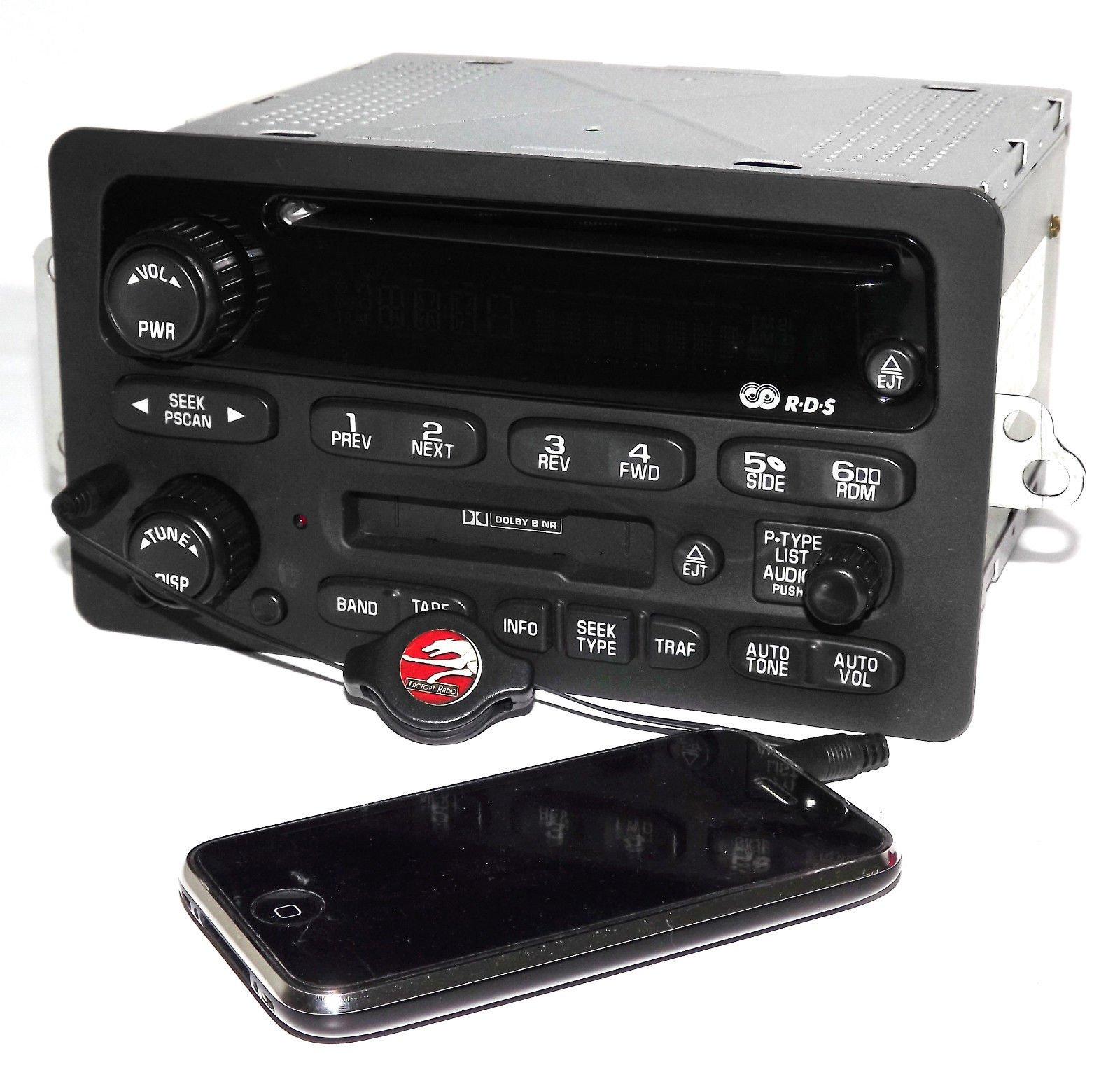 Chevy 2000-05 Car Radio - AM FM CD Cassette Player w Aux iPod mp3 Input 10318438