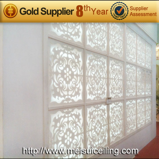 2014 brazil grg 3d acoustic hollow out gypsum wall panel 3d decorative wall paneling for customize - Decorative Wall Panels Design