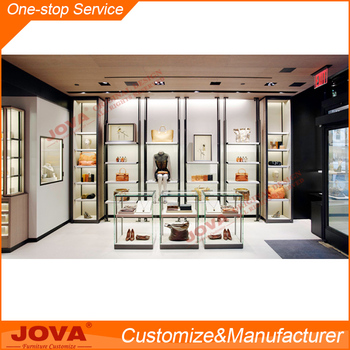 Customized professional bags shop interior design simple for New interior design products