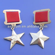 hammer and sickle medal badge gold star metal badges