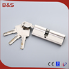 70mm double open mortise security lock cylinder, anti drill lock cylinder width OEM