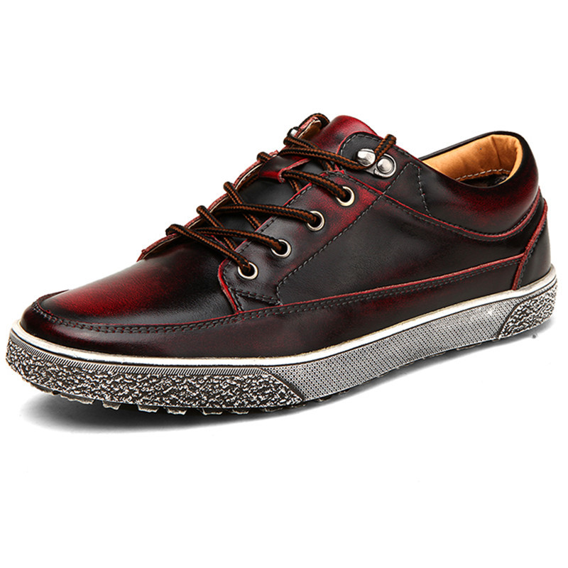 Retro Italian Style Genuine Leather Men Oxford Shoes Luxury Casual Male WaterProof Fashion Soft Summer Breathable Red Shoes Mens