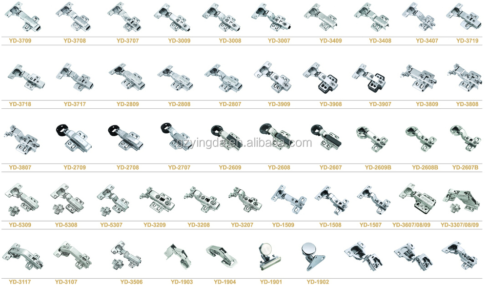 Hot Sale C Metal Lama Cabinet Hinges Of Four Holes YD 3009
