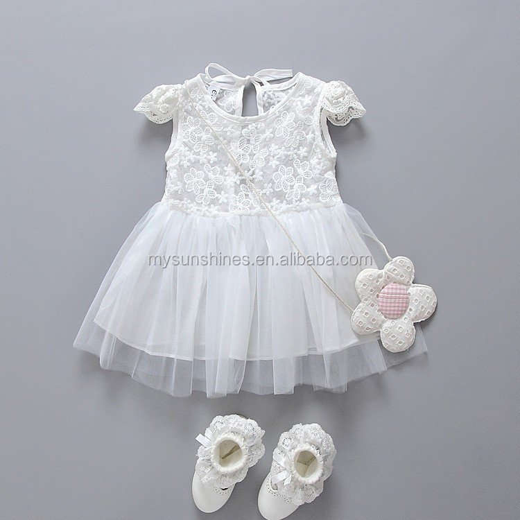 Wholesale High Quality Baby Girl Wedding Dress Sleeveless Birthday 1 Year Old Princess
