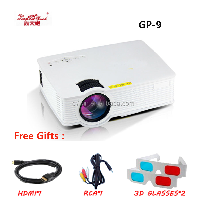 GP-9 Portable Mini LCD LED Projector 2000 Lumens 1920 x 1080 Home Theater Cinema GP 9 Multimedia Full HD Proyector