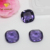 Lab created square loose amethyst glass gemstone