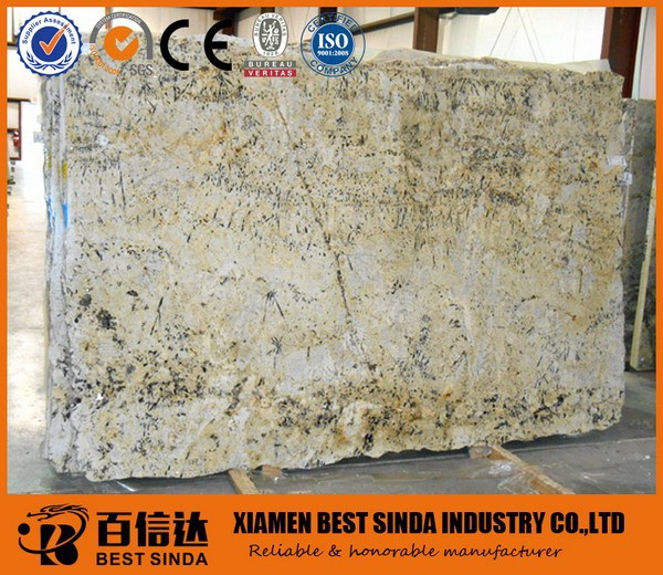 Absolute Cream stone slab in standard granite slab size