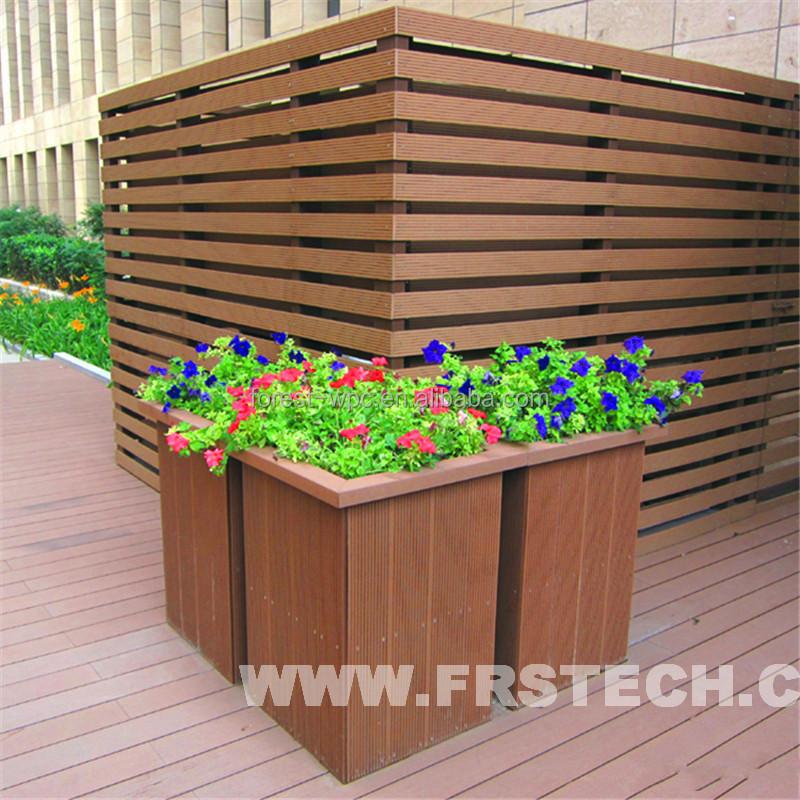 800x780x600mm Frstech Wooden Design Garden Flower Pot Wood Plastic Composite  Garden Shed Tarrington House Garden Furniture