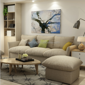 High quality indoor luxury fabric corner sofa, China factory good price fan stand in home furnishing sofa series