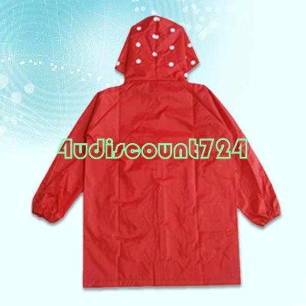 Eqz223 милые дети красный плащ детский мультфильм с капюшоном дождевик водонепроницаемый - клубника