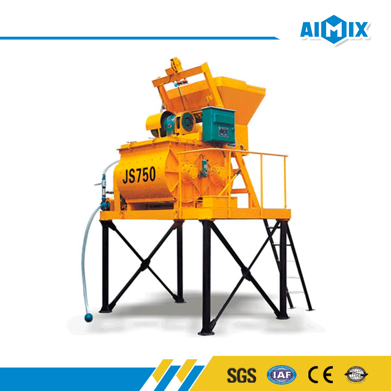 China factory JS750 small concrete mixer price with electric motor