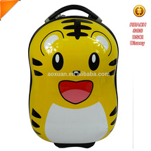 china supplier ABS cute kids 3d school luggage bag with aluminum trolley