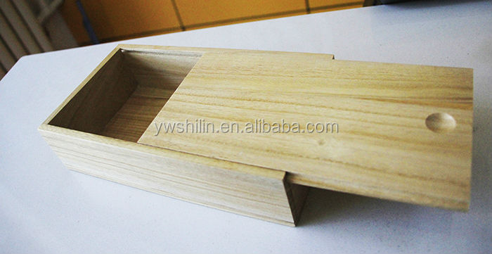New Design Wooden Box With Sliding Lid For Wine