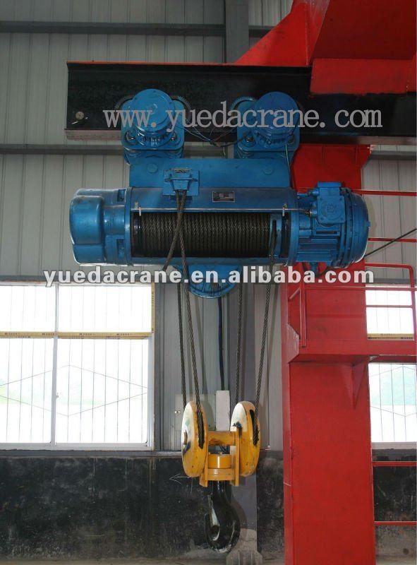 Polipastos de cable eléctrico cable de 3 ton polipasto eléctrico con monorraíl de mecanismo