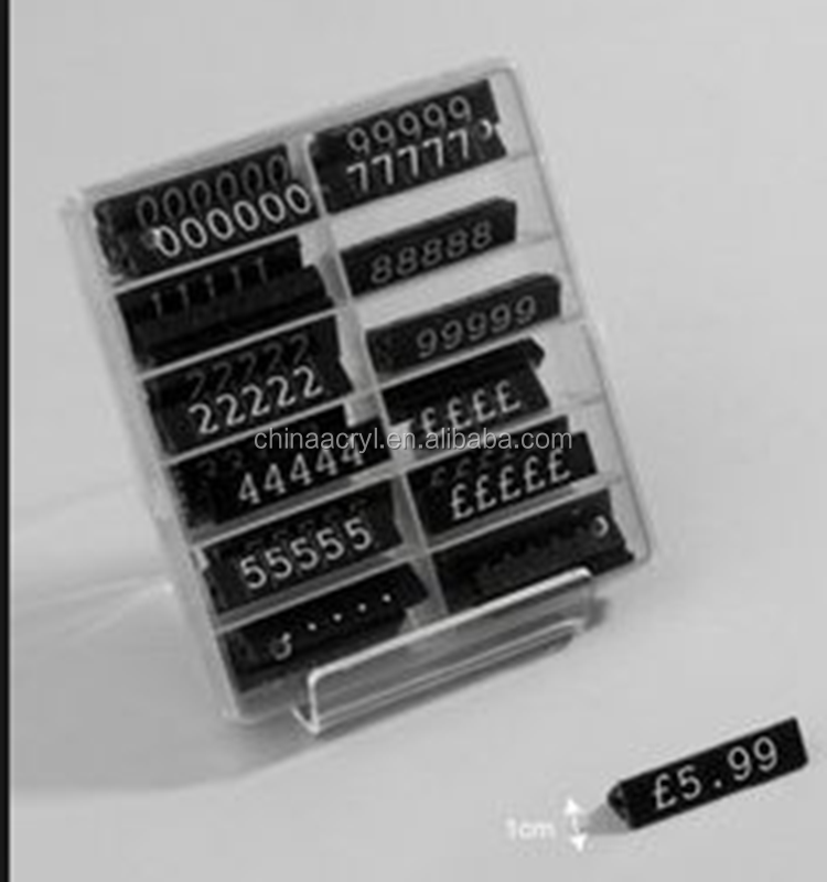 Acrylic Material Black Acrylic Price Cubes and Pricing Systems