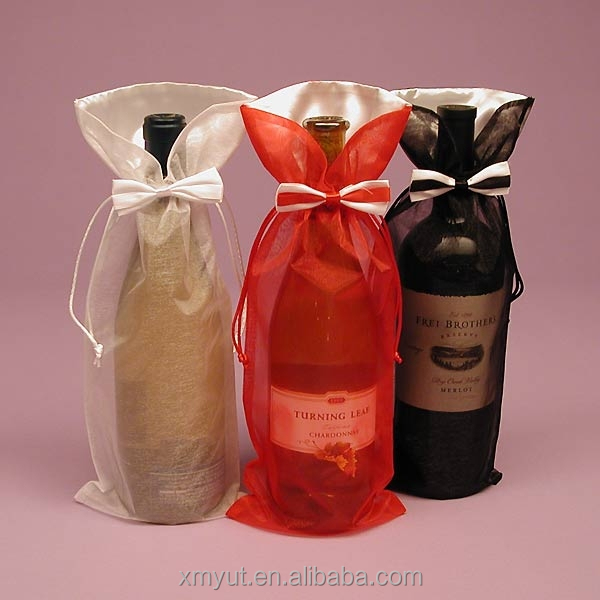 Custom Printed Organza Wine Bag Pouch Bottle Product On Alibaba