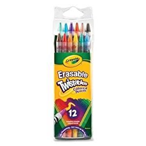 Bulk Buy 12 CT Crayola Twistable Erasable Colored Pencil , 6 Packs