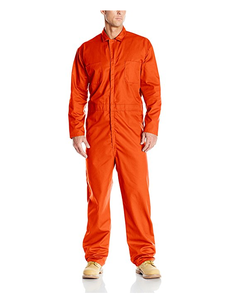 warm oil field orange color style safety tyvek worker coverall