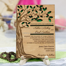 Gorgeous & creative wood tree laser cut wedding invitations