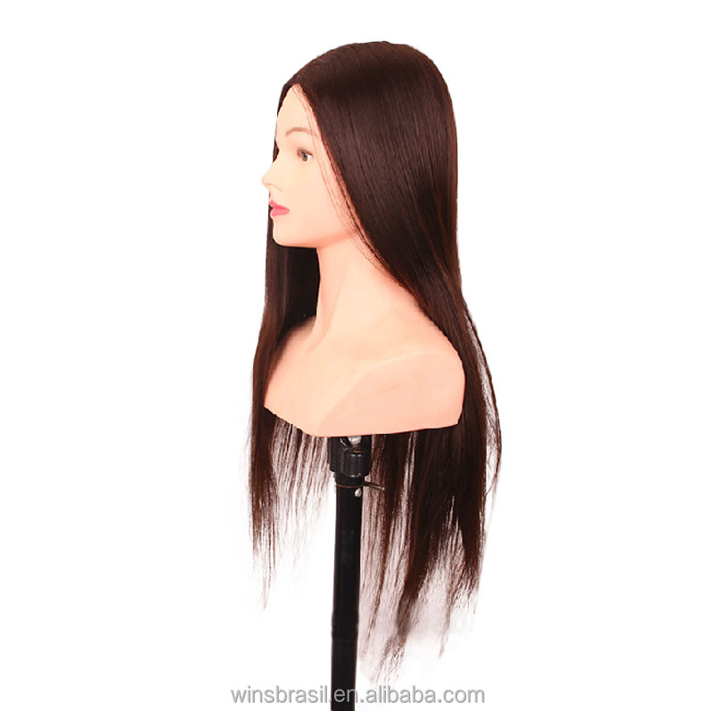 2016 Factory Sell Practice Head for Salon 100% Human Hair Training Head
