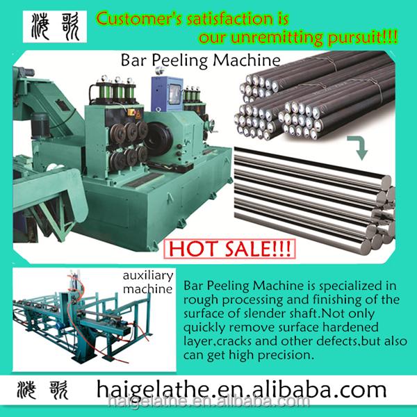 new condition and overseas service available manufacturer provided horizontal peeling machine