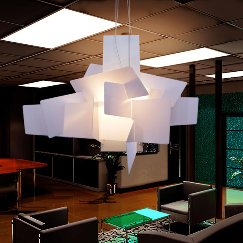 modern big bang led pendant lights white red stacking acrylic pendant lamps suspension lustres. Black Bedroom Furniture Sets. Home Design Ideas