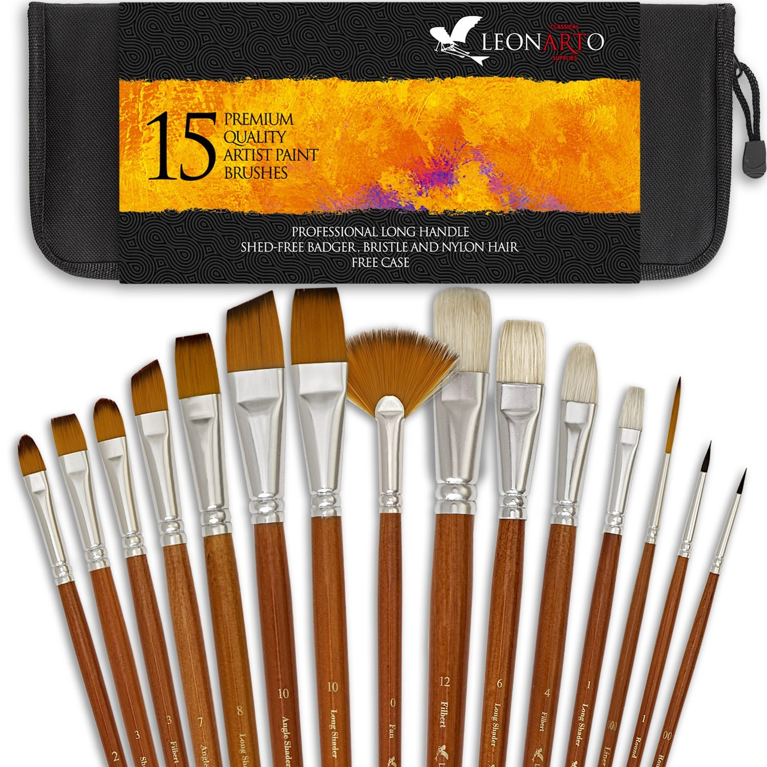 Brush Set Bristle Oil Painting Watercolor Painting Paint Brushes Acrylic