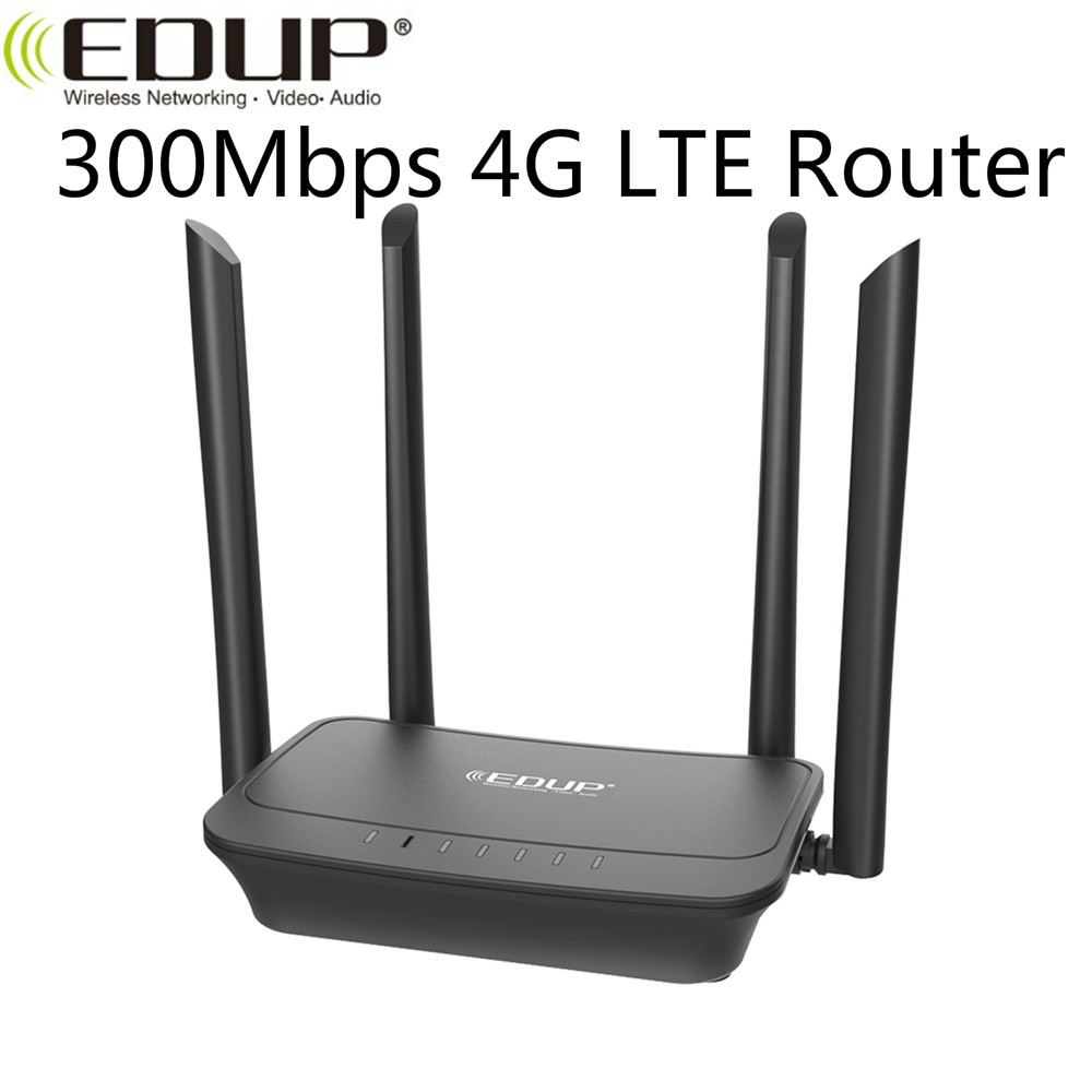 EDUP 300Mbps High Speed 4G LTE Router With SIM Card slot