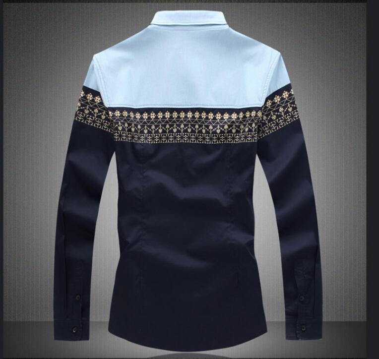 Большой размер мужская рубашка приталенный Fit длинный рукав свободного покроя рубашки мужчины платье рубашки Camisas 2 цвета