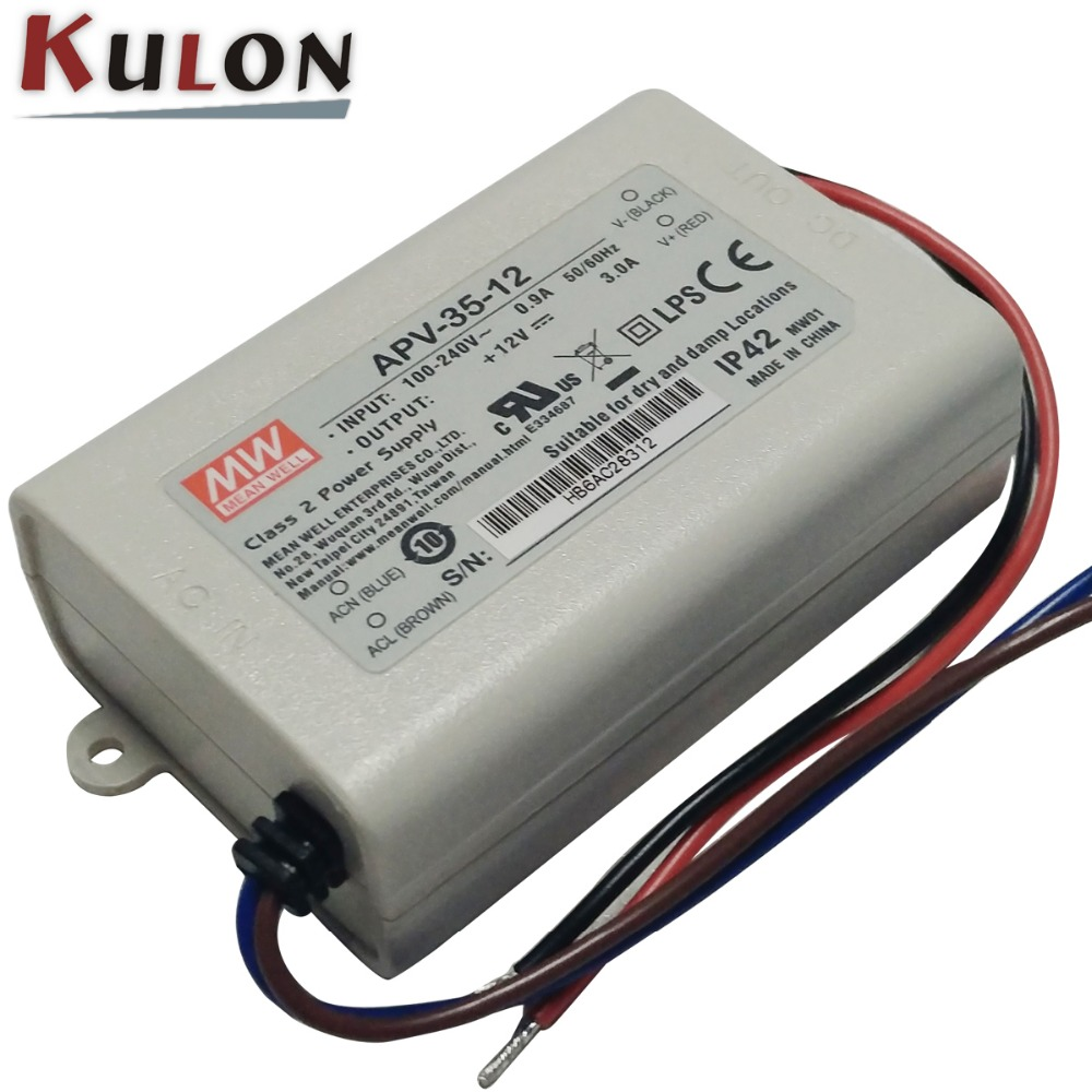Mean Well APV-35-24 AC-DC Single Output LED Driver Constant Voltage
