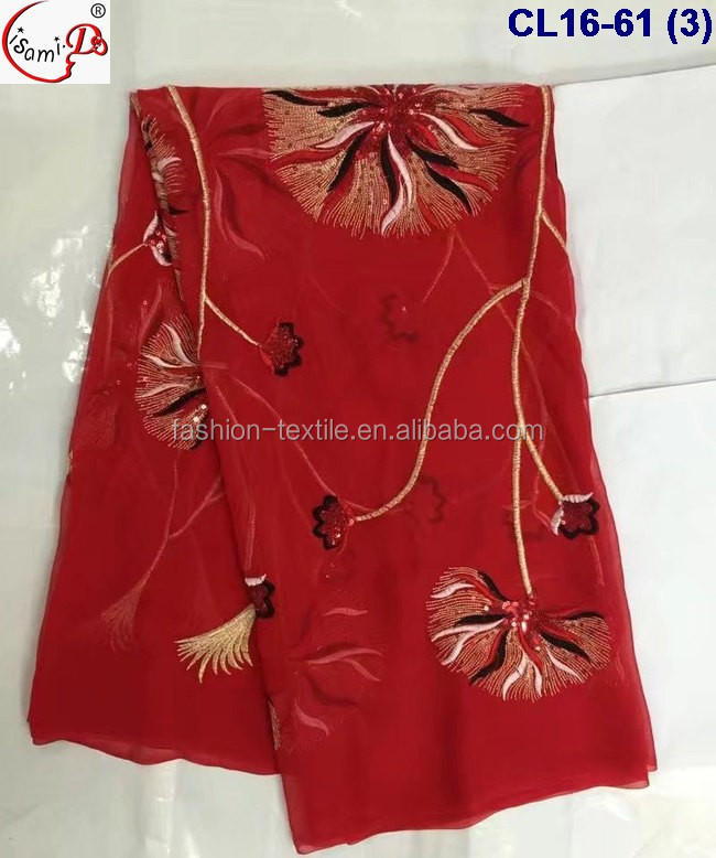 Best Selling elegant embroidery silk Popular in USa Market silk embroideyr lace fabric