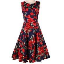 Alta calidad 50s 60s Swing Rockabilly Vintage Casual <span class=keywords><strong>Pinup</strong></span> <span class=keywords><strong>Retro</strong></span> <span class=keywords><strong>vestidos</strong></span> de verano