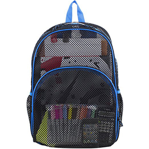 Mesh Backpack See through Student School Bag Bookbag Mesh Net Daypack With Padded Shoulder Straps