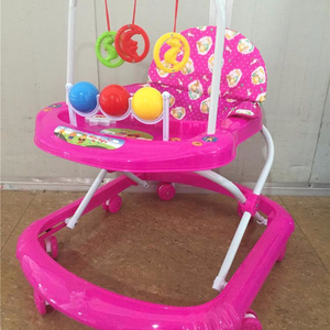 360 degree rotating new model round outdoor baby walker with music/cheaper baby walker china/8 pcs of wheels