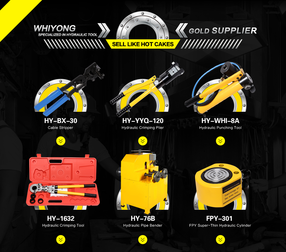 Taizhou Hui Yang Hydraulic Tools Co., Ltd. - Hydraulic cylinders ...
