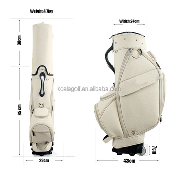 2019 hot sale Lady lightweight sunday white Golf club Bag with wheels