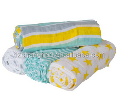 2016 Spring Free sample 100% Cotton Muslin Swaddle Wrap/baby blankets