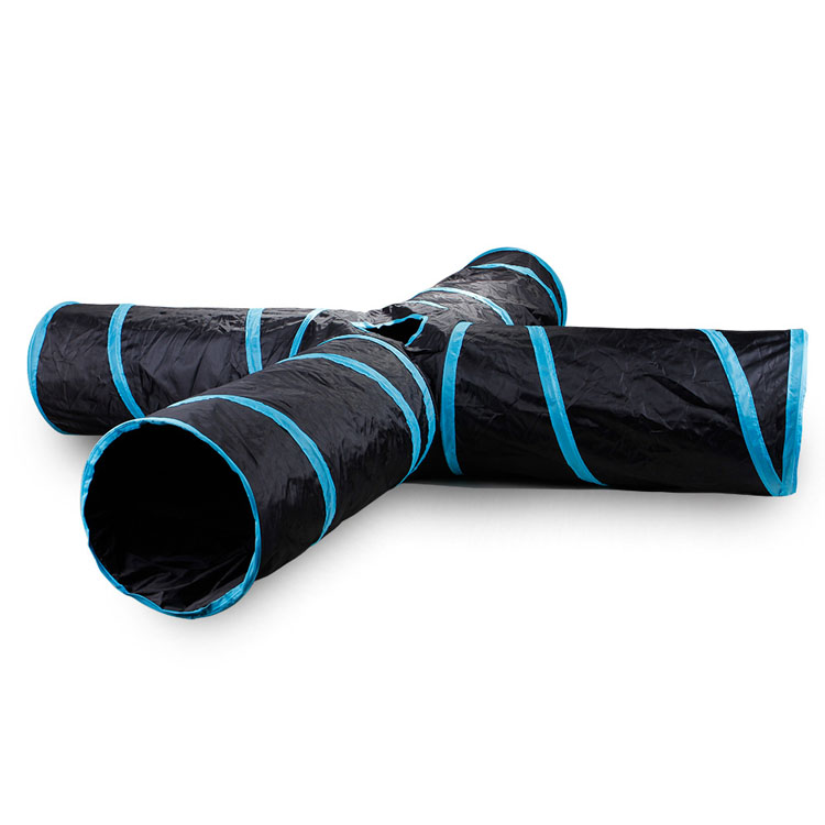 Wholesale Indoor Outdoor Pet Toys Foldable 4 Ways Cat Tunnel with Play Ball