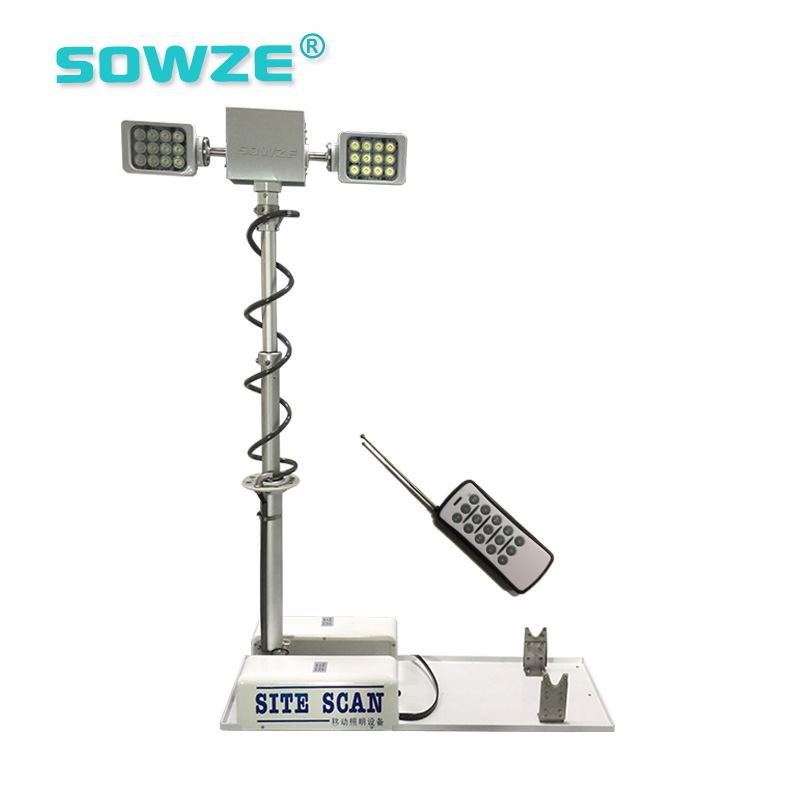 Vehicle Mounted Telescopic Lamp Mast Camera Tower