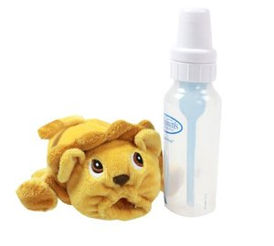 Plush Baby Milk Bottle Cover Leo Keep Warm Lion Pouch Toys