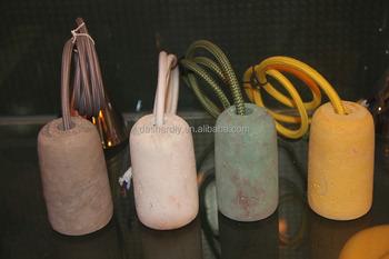 Lampada In Cemento Fai Da Te : Lampada a sospensione fai da te cemento concreto paralume lampada