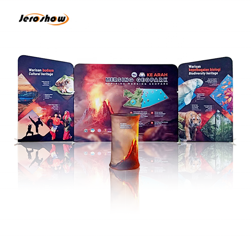 6x6 Foldable Aluminum Fabric Exhibition Display System TV <strong>Stand</strong> Trade Show <strong>Booth</strong>