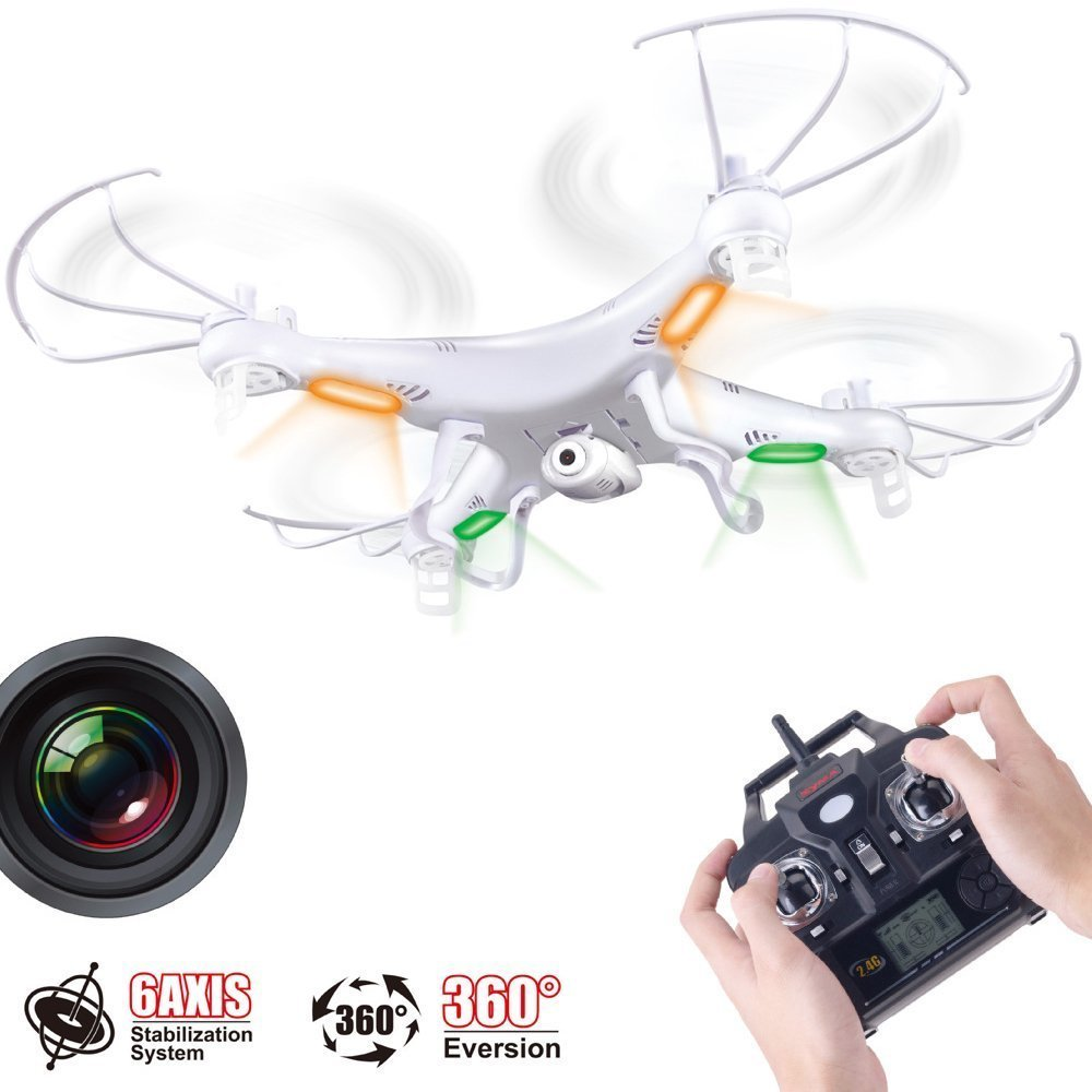 Free Shipping New Version Syma X5C 2.4G 6 Axis GYRO HD Camera RC Quadcopter RTF