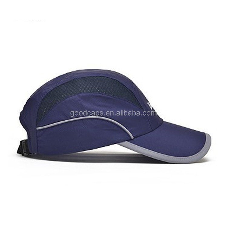 printing logo baseball caps and hats men 100% polyester piping running hat  custom outdoor sports 7607818b2ebc