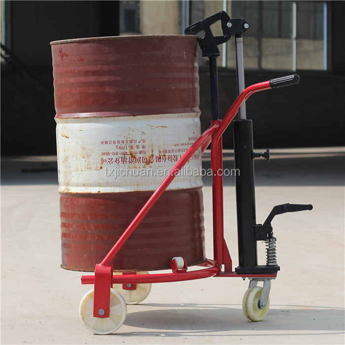 CE ISO Hand Pallet Drum Trolley Hydraulic Oil Drum Truck