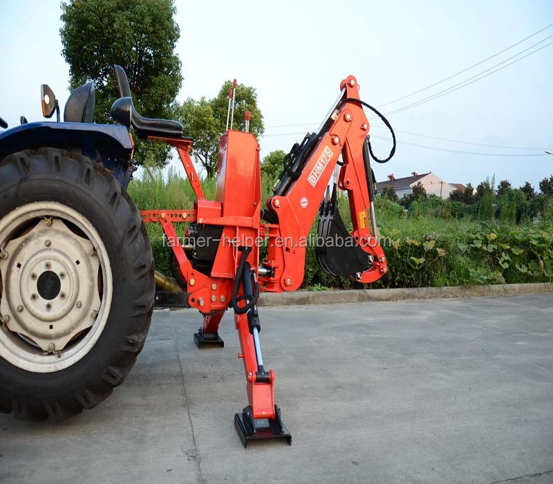 mini traktor bagger traktor montiert heckbagger mit. Black Bedroom Furniture Sets. Home Design Ideas