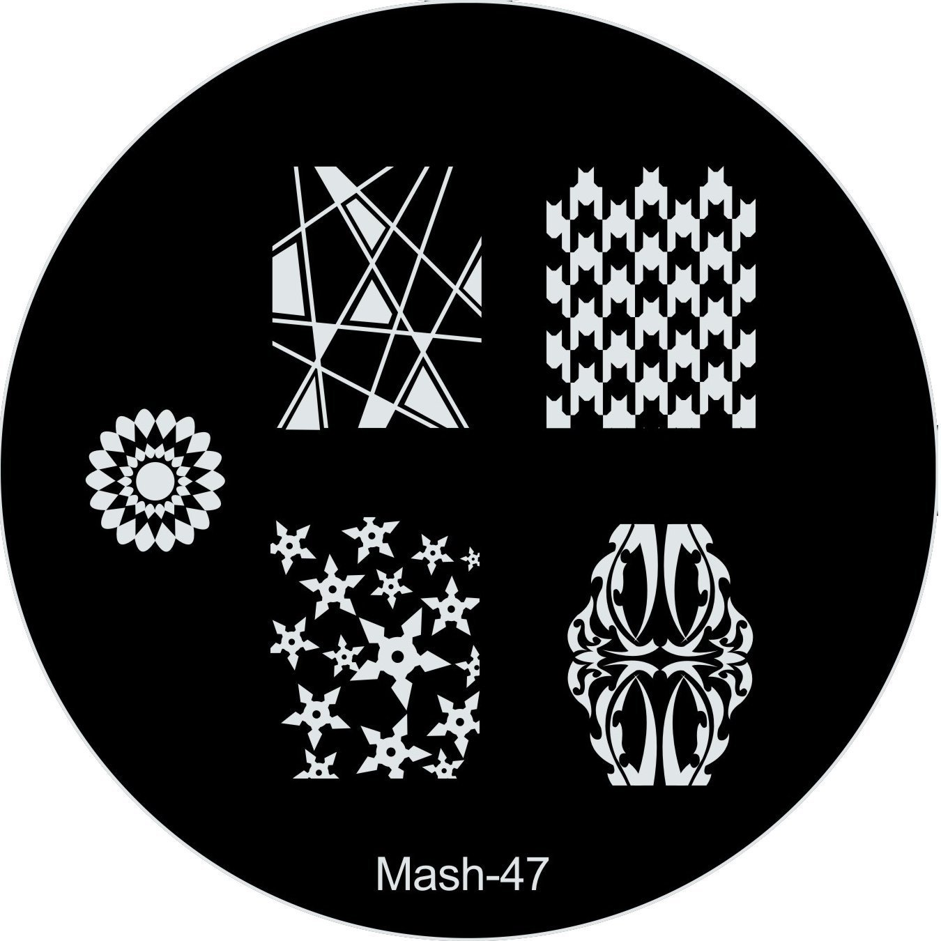 Get Quotations Mash Nail Art Stamp Stamping Image Plate No 47