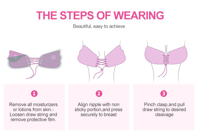 New Style Undergarments Ladies Bra Women Busty Mature Strapless Sticky Skin Bra Backless Invisible Adhesive Silicon Bras